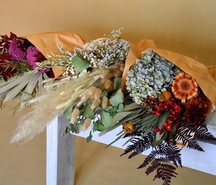 Szárazvirágok csoportkép